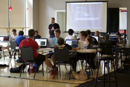 Classroom at Awesome Inc Week of Code - July 2015