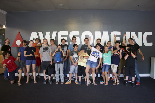 Student group at Awesome Inc Week of Code - July 2015